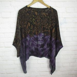 Nally & Millie One Size Swing Batwing Knit Top